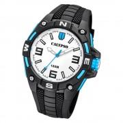 Calypso Herren Armbanduhr Street Style K5761/1 Quarz-Uhr PU schwarz UK5761/1