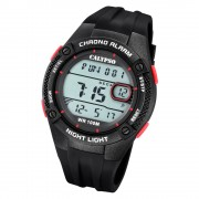 Calypso Herren Armbanduhr Digital Crush K5765/3 Quarz-Uhr PU schwarz UK5765/3