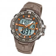 Calypso Herren Armbanduhr Street Style K5766/3 Quarz-Uhr PU braun UK5766/3