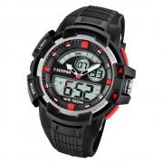 Calypso Herren Armbanduhr Street Style K5767/3 Quarz-Uhr PU schwarz UK5767/3