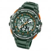 Calypso Herren Armbanduhr Street Style K5769/5 Quarz-Uhr PU grün UK5769/5
