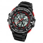 Calypso Herren Armbanduhr Street Style K5769/6 Quarz-Uhr PU schwarz UK5769/6
