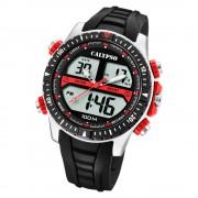 Calypso Herren Armbanduhr Street Style K5773/3 Quarz-Uhr PU schwarz UK5773/3