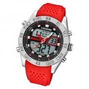 Calypso Herren Armbanduhr Street Style K5774/2 Quarz-Uhr PU rot UK5774/2
