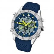 Calypso Herren Armbanduhr Street Style K5774/3 Quarz-Uhr PU blau UK5774/3