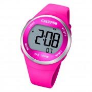 Calypso Damen Jugend Armbanduhr Outdoor K5786/5 Digital Kunststoff pink UK5786/5