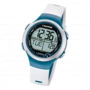 Calypso Damen Herren Armbanduhr K5799/1 Digital Kunststoff weiß blau UK5799/1