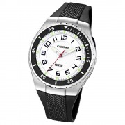 CALYPSO Herren-Armbanduhr Fashion analog Quarz-Uhr PU schwarz UK6063/3