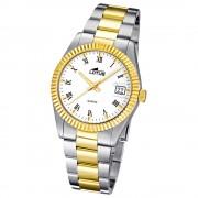 LOTUS Damenuhr Typ R. Analog Quarz Uhr Edelstahl Armband silber UL15823/1