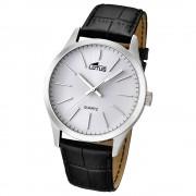 LOTUS Herrenuhr Minimalist Analog Quarz Uhr Leder Armband schwarz UL15961/1