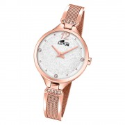 LOTUS Damen Armbanduhr Bliss 18606/1 Quarz Edelstahl rosegold UL18606/1
