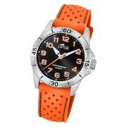 LOTUS Jugend Armbanduhr Junior 18663/1 Quarz PU orange UL18663/1