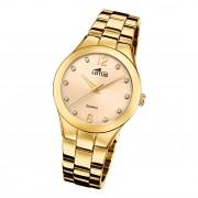 Lotus Damen Armbanduhr Trendy 18742/3 Analog Edelstahl gold UL18742/3