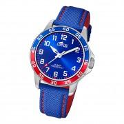 Lotus Jugend Armbanduhr Junior 18787/1 Analog Leder blau rot UL18787/1