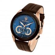 Maserati Herren Armbanduhr Traguardo Chrono Leder braun UMAR8871612024
