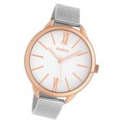 Oozoo Damen Armbanduhr Timepieces C10133 Quarz Stahl silber UOC10133