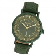 Oozoo Damen Armbanduhr Timepieces C10148 Quarzwerk Leder grün UOC10148