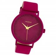 Oozoo Damen Armbanduhr Timepieces C10167 42mm Quarz Leder fuchsia UOC10167