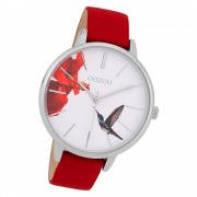 Oozoo Damen Armbanduhr Timepieces C9762 Quarzwerk Leder rot UOC10181