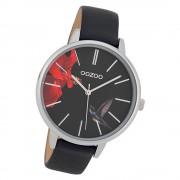 Oozoo Damen Armbanduhr Timepieces C9764 Quarzwerk Leder schwarz UOC10186