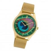 Oozoo Damen Armbanduhr Ultra Slim C10251 Analog Edelstahl gold UOC10251