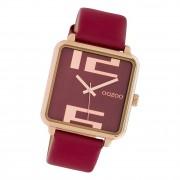 Oozoo Damen Armbanduhr Timepieces C10363 Analog Leder weinrot UOC10363