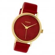 Oozoo Damen Armbanduhr Timepieces C10393 Quarz Leder weinrot UOC10393