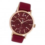 Oozoo Damen Armbanduhr Timepieces C10412 Analog Leder weinrot UOC10412