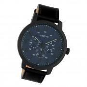 Oozoo Herren Armbanduhr Timepieces C10509 Analog Leder schwarz UOC10509