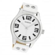 Oozoo Damen Armbanduhr Timepieces C1050 Analog Leder weiß UOC1050A