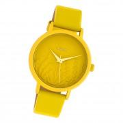 Oozoo Damen Armbanduhr Timepieces C10602 Analog Leder gelb UOC10602