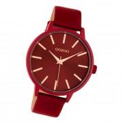 Oozoo Damen Armbanduhr Timepieces C10618 Analog Leder rot UOC10618