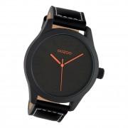 Oozoo Herren Armbanduhr Timepieces C1069 Analog Leder schwarz UOC1069