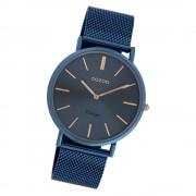 Oozoo Damen Armbanduhr Ultra Slim C20002 Quarzwerk Edelstahl blau UOC20002