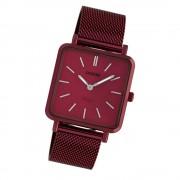 Oozoo Damen Armbanduhr Ultra Slim C20011 Quarz Edelstahl weinrot UOC20011