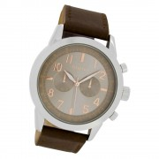 Oozoo Herren Armbanduhr Timepieces C6885 Quarzwerk Leder braun UOC6885