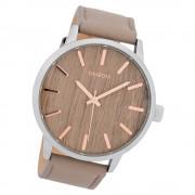Oozoo Herren Armbanduhr Timepieces C9257 Quarzwerk Leder grau UOC9257