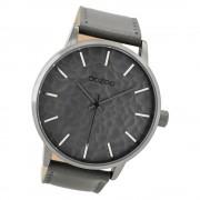 Oozoo Herren Armbanduhr Timepieces C9440 Quarzwerk Leder grau UOC9440
