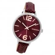 Oozoo Damen Armbanduhr Timepieces C9482 Quarz Leder weinrot UOC9482