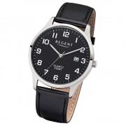 Regent Herren-Armbanduhr 32-1113406 Quarz-Uhr Leder-Armband schwarz UR1113406