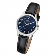 Regent Damen Armbanduhr Analog 2112417 Quarz-Uhr Leder schwarz UR2112417