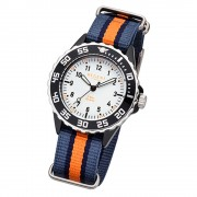 Regent Kinder-Armbanduhr BA-385 Quarz-Uhr Textil-Armband blau orange URBA385