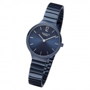 Regent Damen Armbanduhr Analog BA-557 Quarz-Uhr Edelstahl blau URBA557