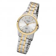 Regent Damen-Armbanduhr 32-F-1005 Edelstahl-Armband silber gold URF1005