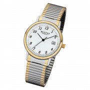 Regent Damen, Herren-Armbanduhr 32-F-1015 Quarz-Uhr Edelstahl-Armband silber gold URF1015