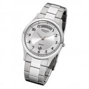 Regent Herren-Armbanduhr 32-F-1042 Quarz-Uhr Edelstahl-Armband silber URF1042