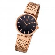 Regent Damen-Armbanduhr 32-F-1059 Quarz-Uhr Edelstahl-Armband rosegold URF1059