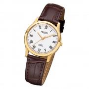 Regent Damen-Armbanduhr 32-F-1074 Quarz-Uhr Leder-Armband braun URF1074