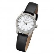 Regent Damen-Armbanduhr 32-F-1087 Quarz-Uhr Leder-Armband schwarz URF1087