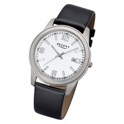 Regent Herren-Armbanduhr 32-F-1105 Quarz-Uhr Leder-Armband schwarz URF1105